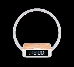 Φωτιστικό Αφής 3DIM / Ρολόι- Ξυπνητήρι/ Ασύρματη Φόρτιση